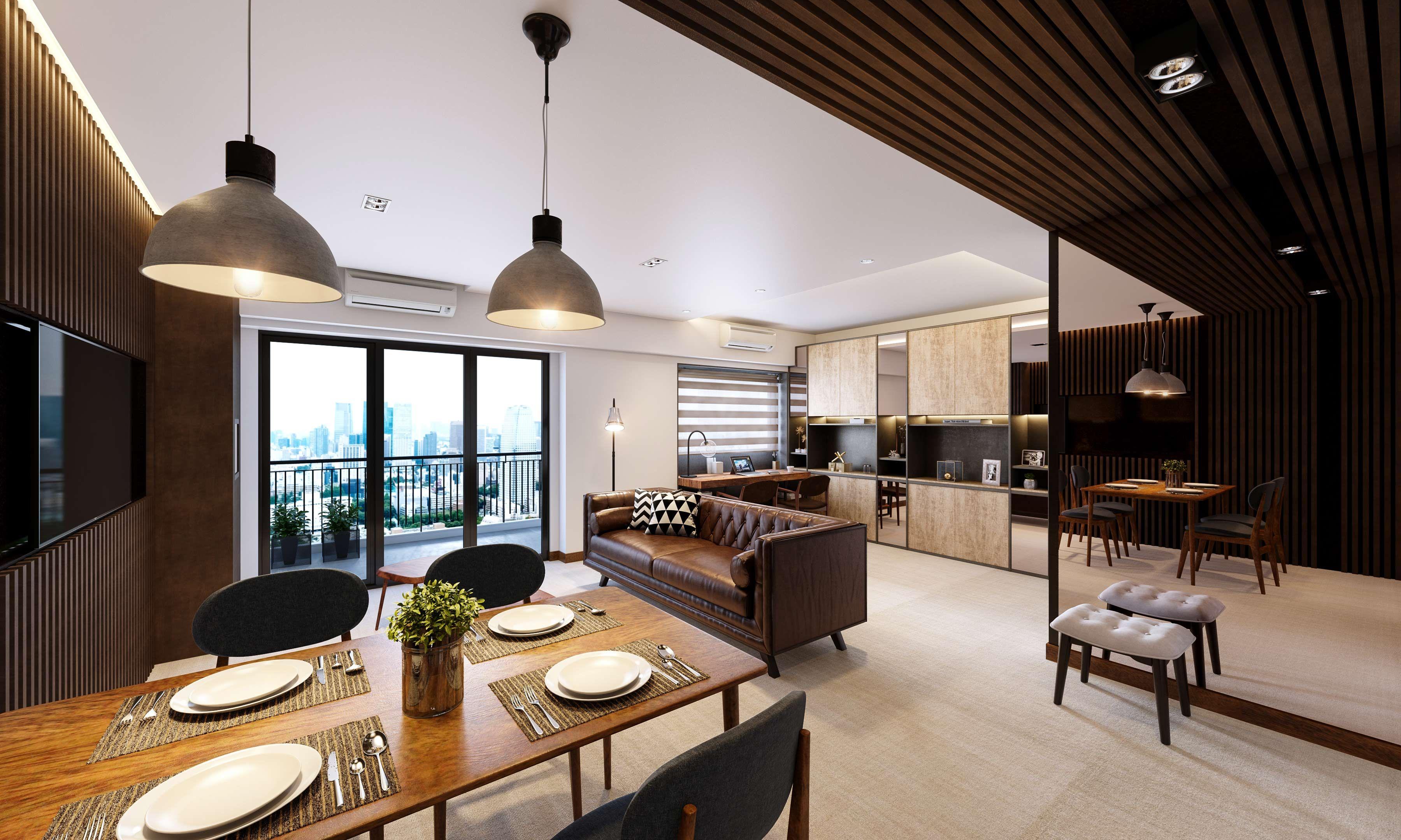 Cosy Living Dining Room Interior Design
