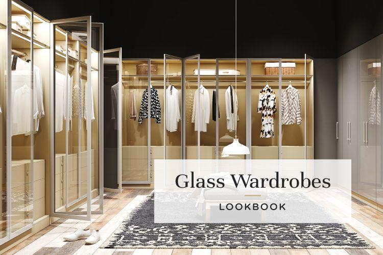 glass wardrobe designs