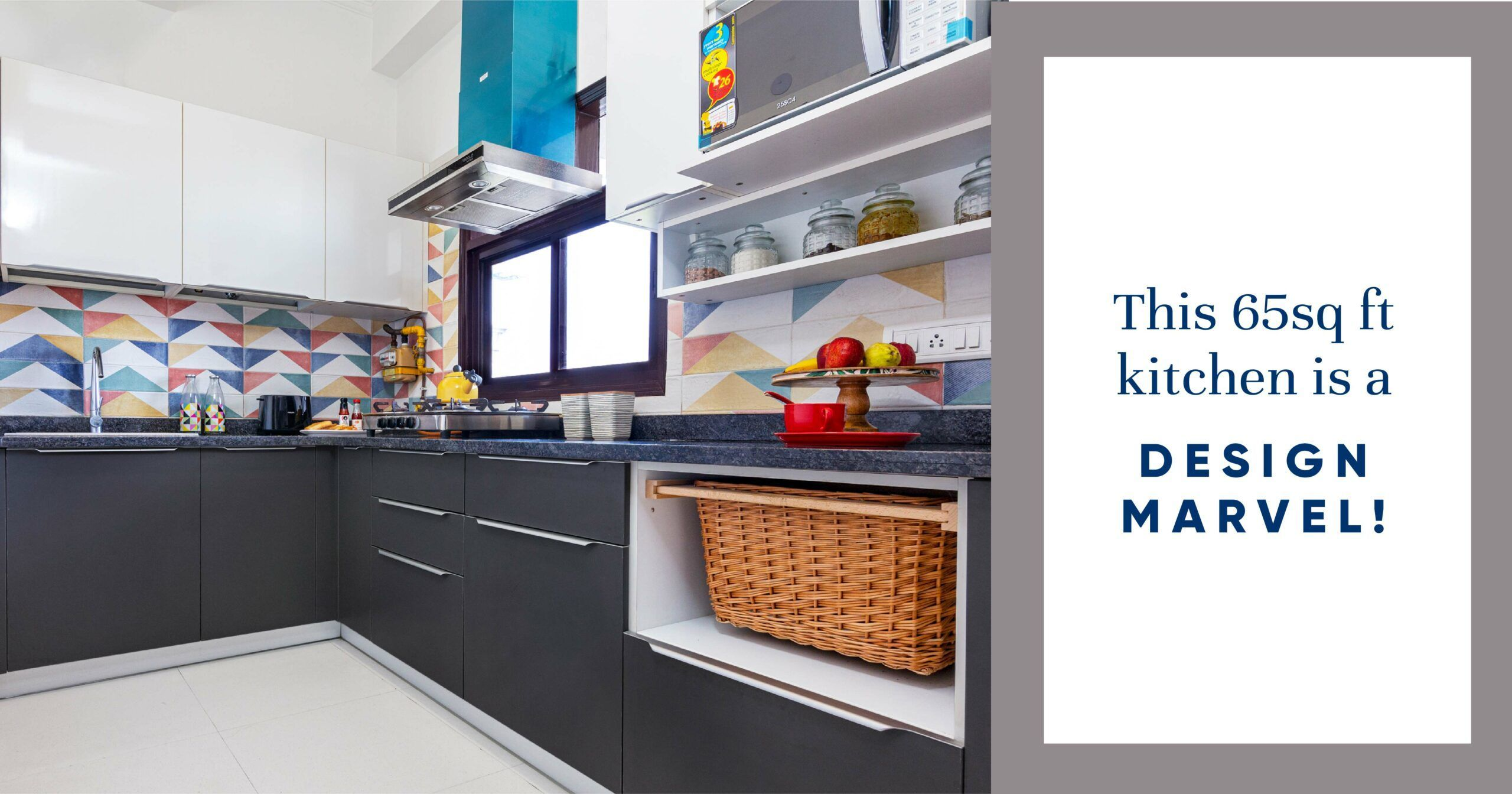 We Redesigned a Super Compact Dwarka Kitchen