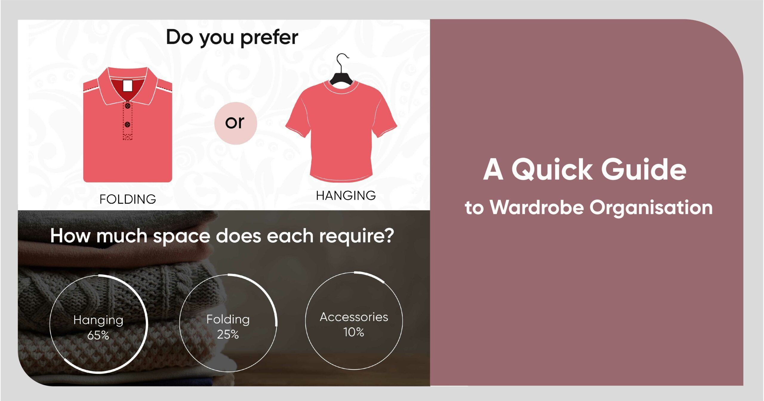Infographic to Iron Out All Your Wardrobe Organisation Woes