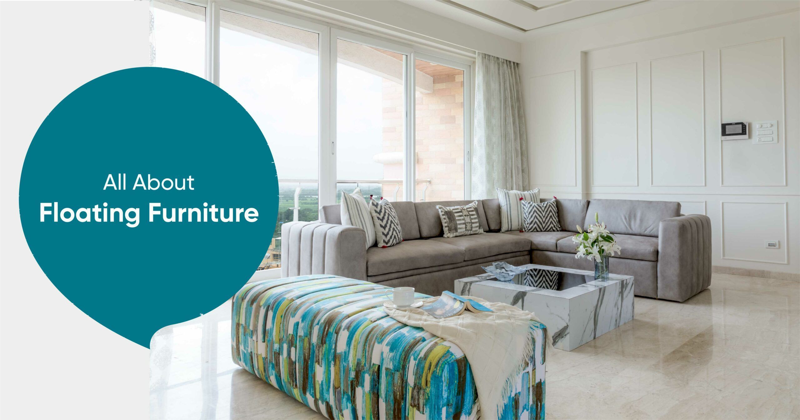 Floating the Furniture is the Smartest Decor Move for Small Spaces