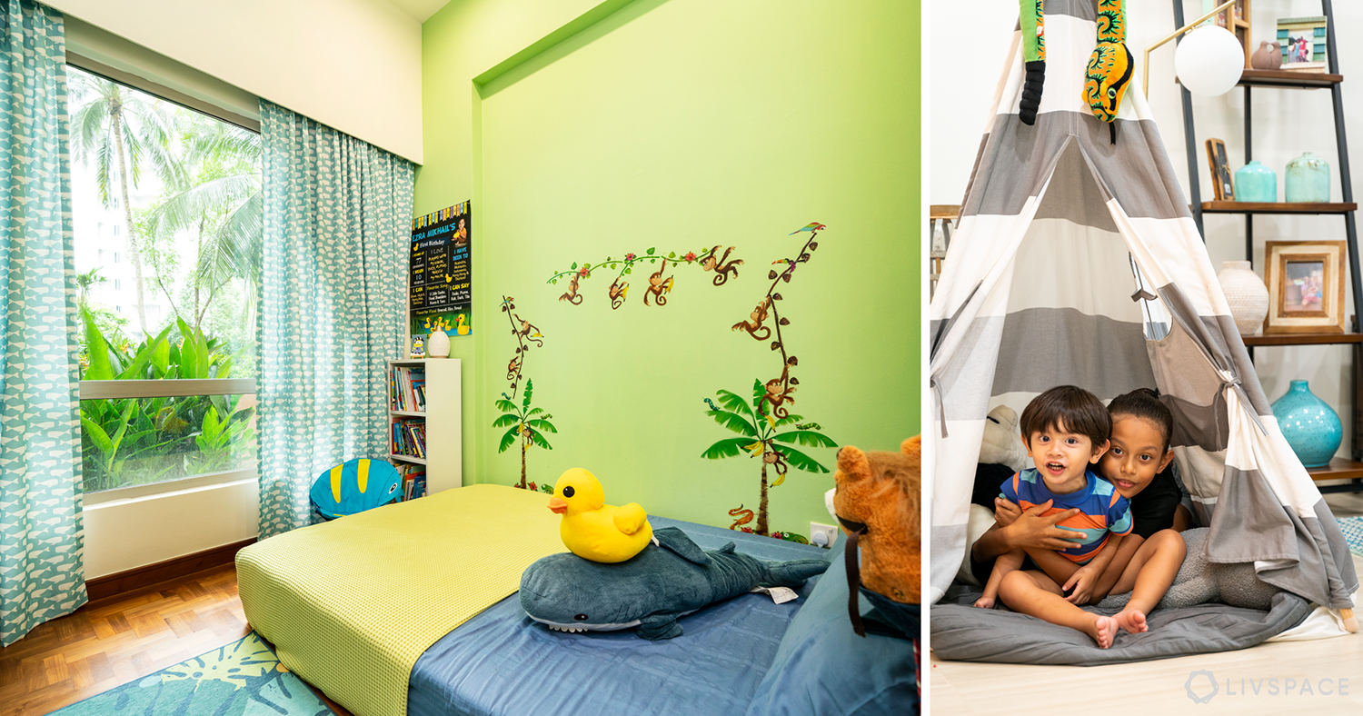 This 3-Room Condo is Neat and Flaunts Pretty Colourful Accents
