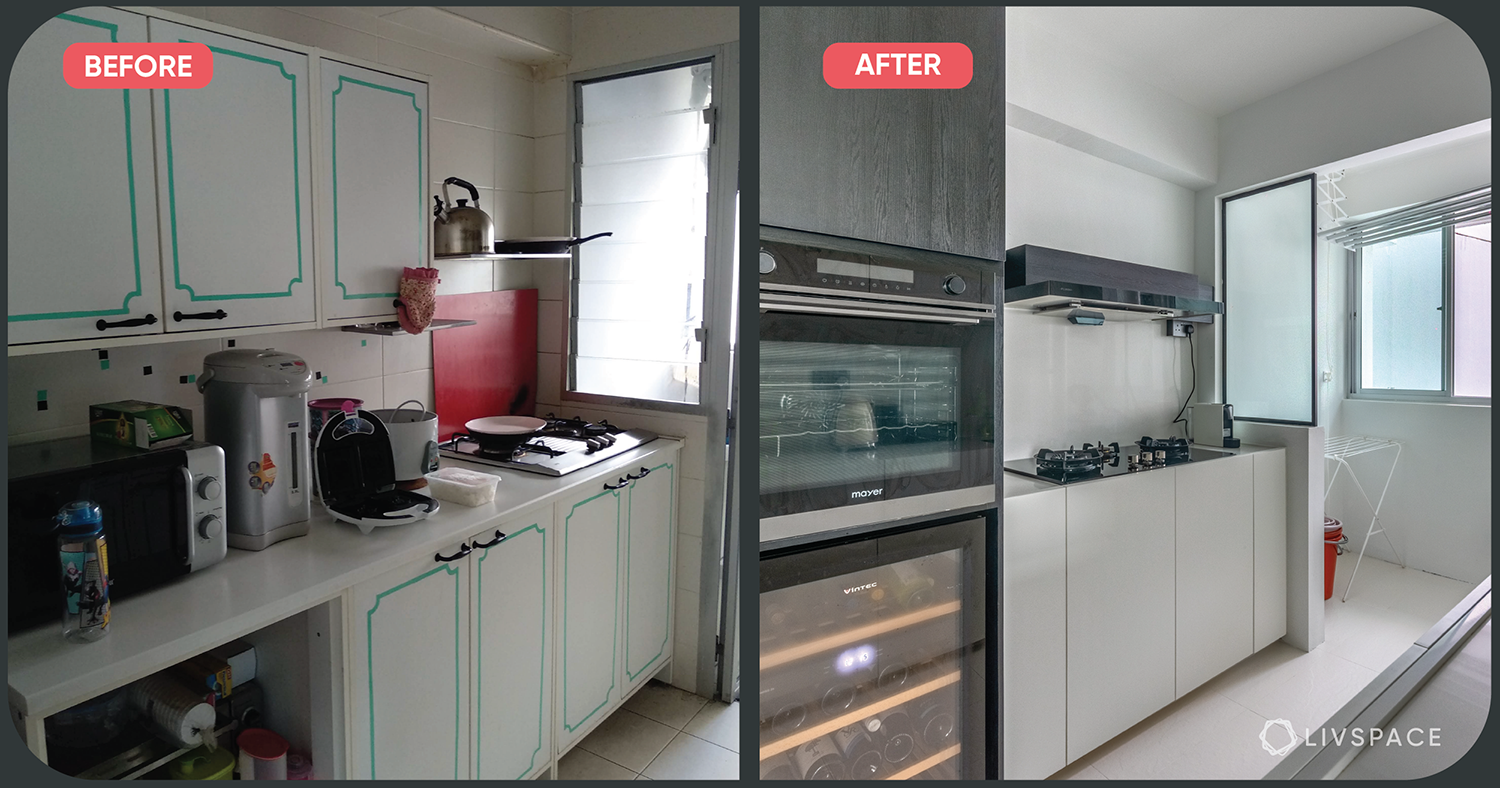 From Clutter and Colour to Clean and Minimal: A HDB Renovation