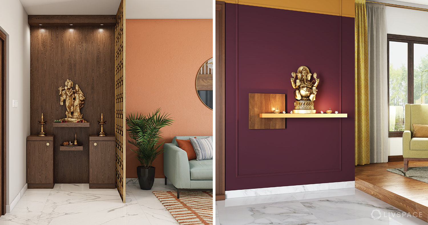 6 Minimal Pooja Room Designs That are Perfect for Compact Homes