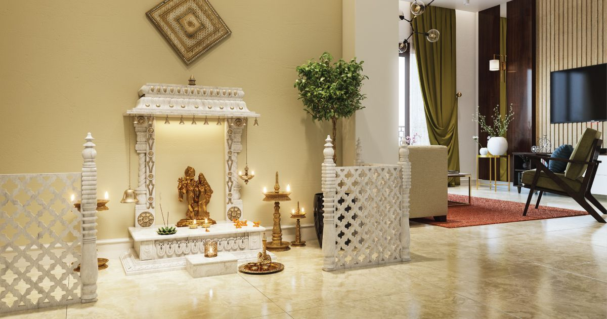 Home Temple: 9 Curated Mandir Designs for Your Living Room