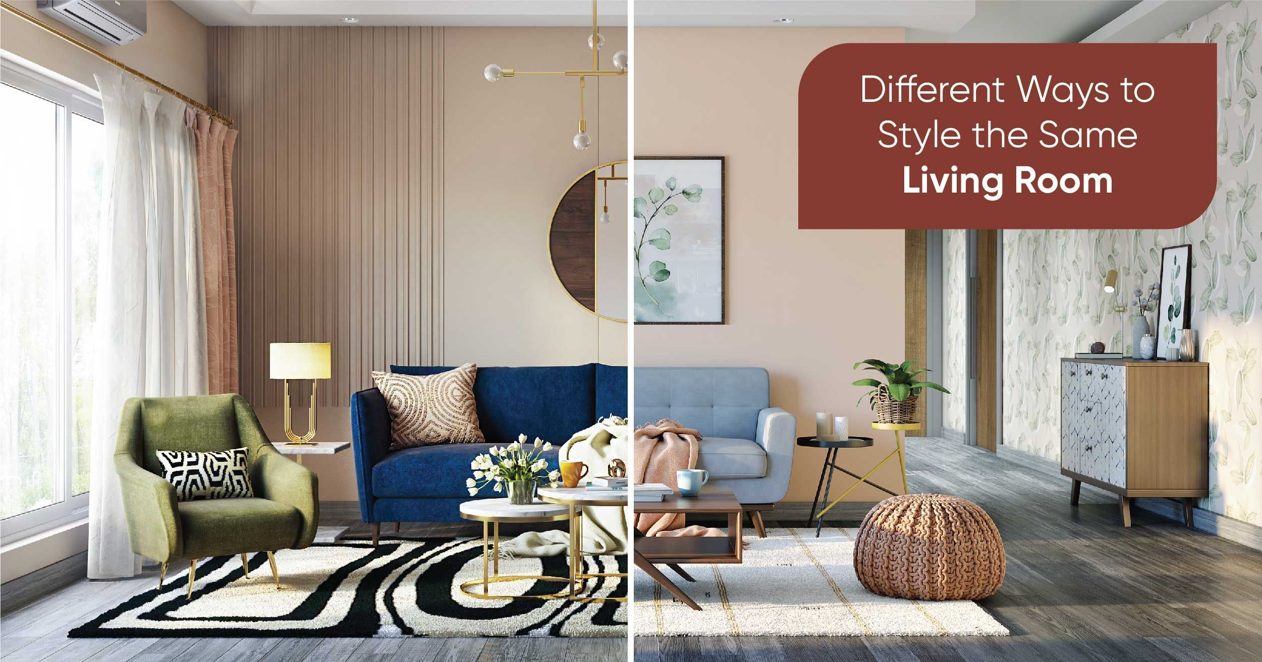We Applied 5 Different Styles To The Same Living Room
