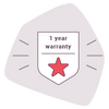 One-year warranty*