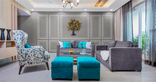 two colour living room combination