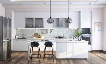 White Modern-style Island Kitchen
