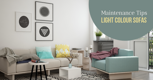 maintain light color sofas