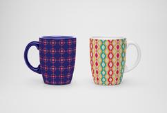 Lattice Print Mugs