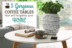 Our coffee table picks that are sure to add some oomph to your living room.