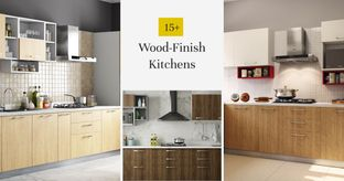 15+ Modern Kitchens in Wood Finish