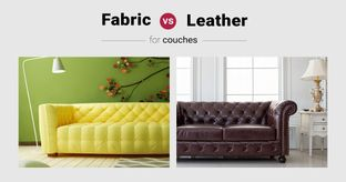 Leather vs Fabric: Couch Potato's Pick?