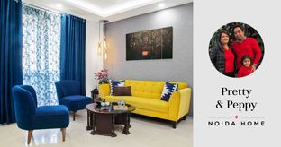 3BHK at Jaypee Kosmos Gets Zesty Interiors