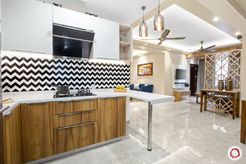 New home design in Dwarka kitchen from inside