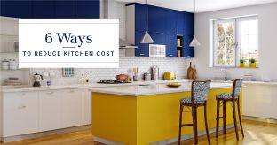 budget kitchen-island kitchen-blue and yellowen