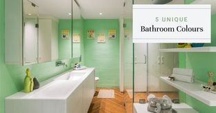 Trendy Bathroom Colours Besides White