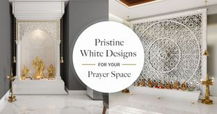 Pooja Room Designs in Whimsical Whites