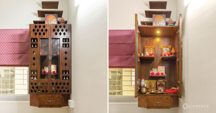 compact pooja room-cover
