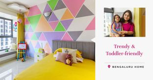 Colourful & Child-friendly Interiors for a 3BHK