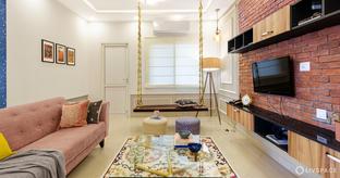 Customised Colourful 3BHK Interior Design