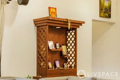 Pooja Room Designs in Plywood Wall Mounted