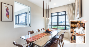Ample Light and Pretty Functional Furniture for This 5-room HDB