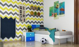 Accent wall for kid's bedroom