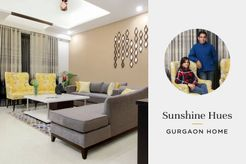A Bright Gurgaon Home with Glowing Gold & Zesty Limes