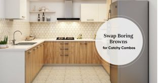 Which Colour Pairs Best With Brown Kitchens?