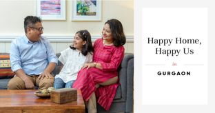 Picture-perfect 3BHK in Pretty Pastels