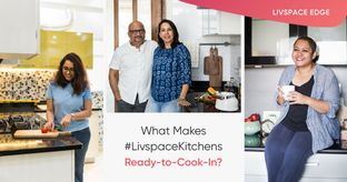 Get the Edge with a Livspace Kitchen