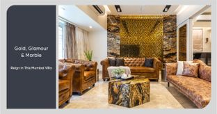 Italian Marble, Custom-made Furniture & Gold Trimmings Add Luxury to This Villa
