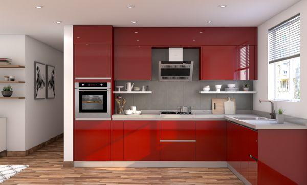 Efficient Modern L-shaped Kitchen