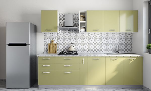 Compact Straight Line Kitchen