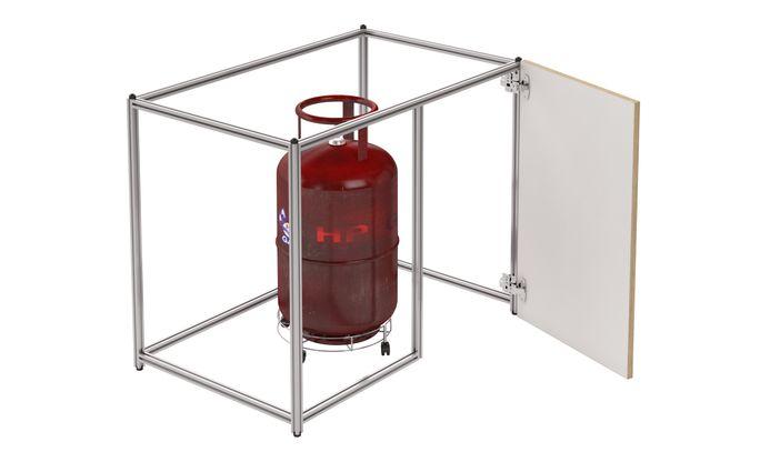 Blind Corner Cylinder Unit