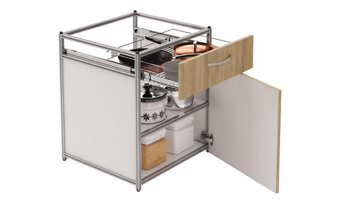 Base Unit, 1 SS Drawer (1M), 1 Shelf