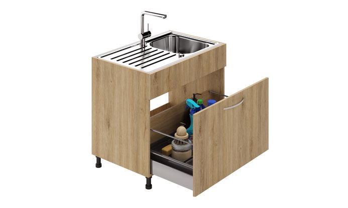 Sink Unit, 1 Drawer (XL)