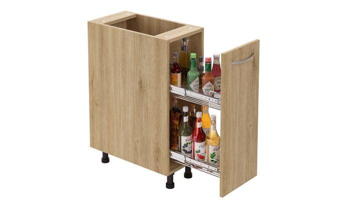 Bottle Pullout, 2-tier SS Basket
