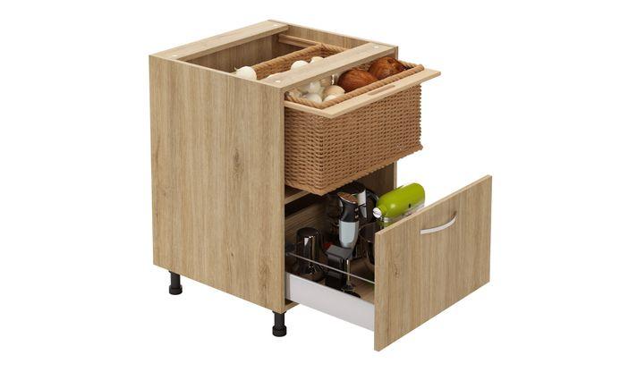 Base Unit, 1 Wicker Basket, 1 Drawer