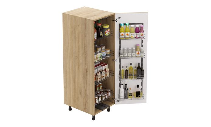 Mid-tall Unit, Tandem Pantry Pullout