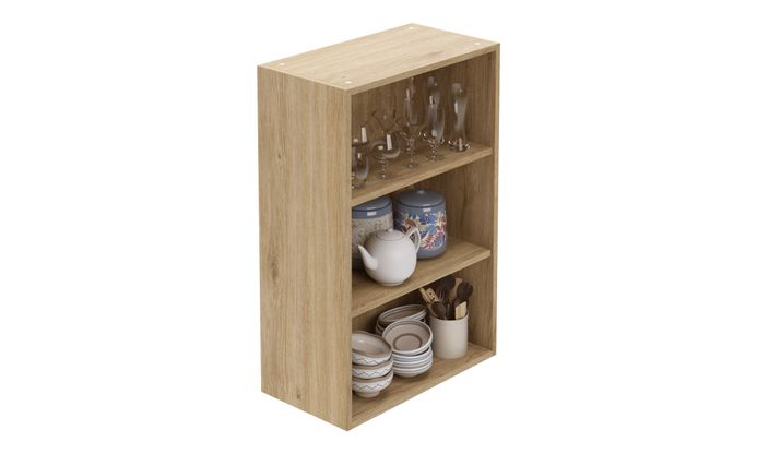 Wall Open Unit, 2 Shelves