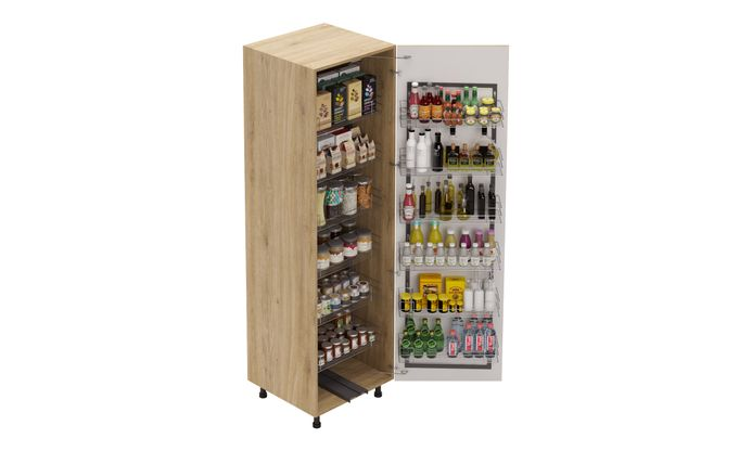 Tall Unit, Tandem Pantry Pullout
