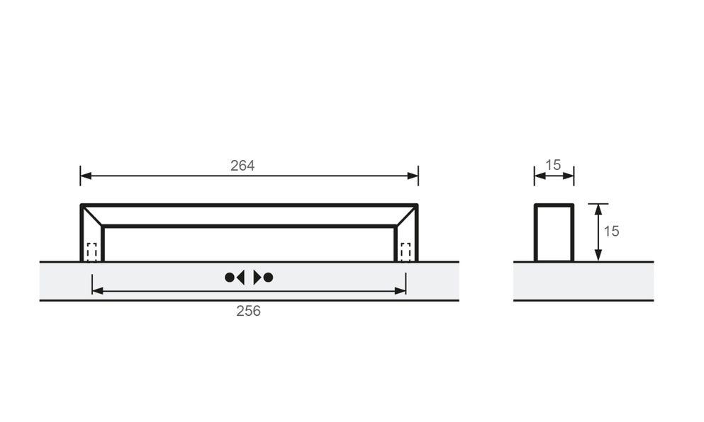 Baldone, Chrome plated, 166mm