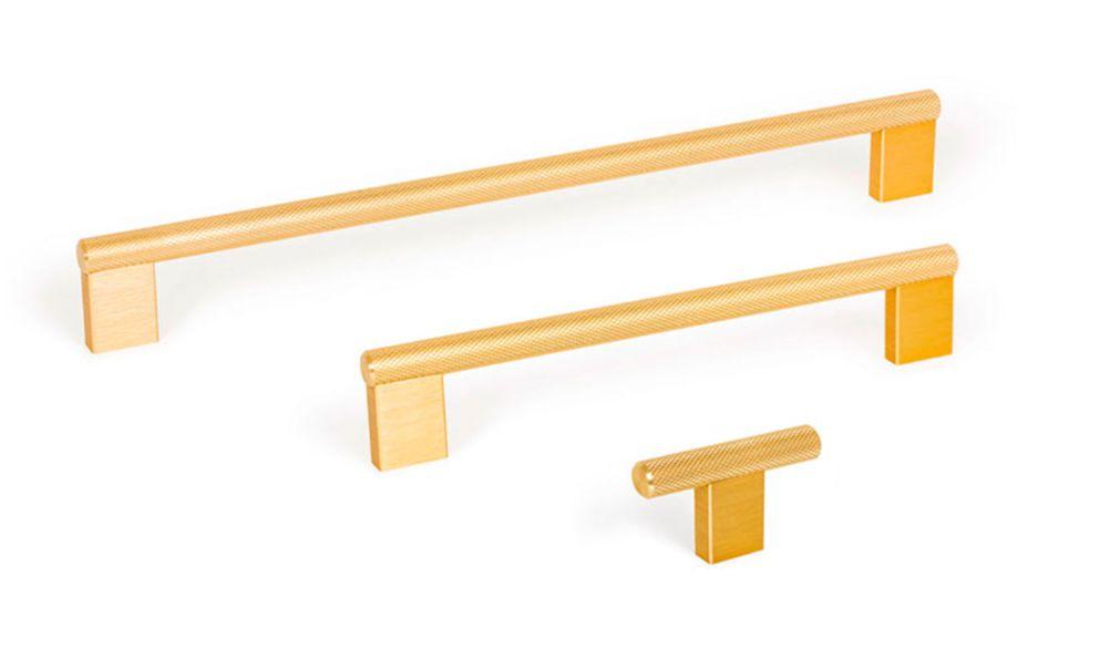 Graf2 Knob, Brushed brass