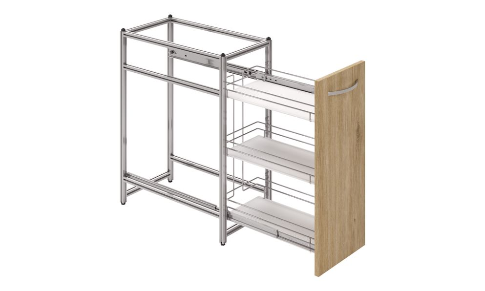 Spice Pullout, 3-tier SS Basket