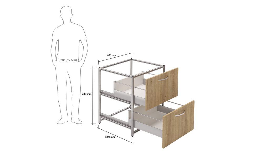 Base Unit, 2 Drawers (2L)